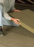 Plaques d'isolation plancher des combles